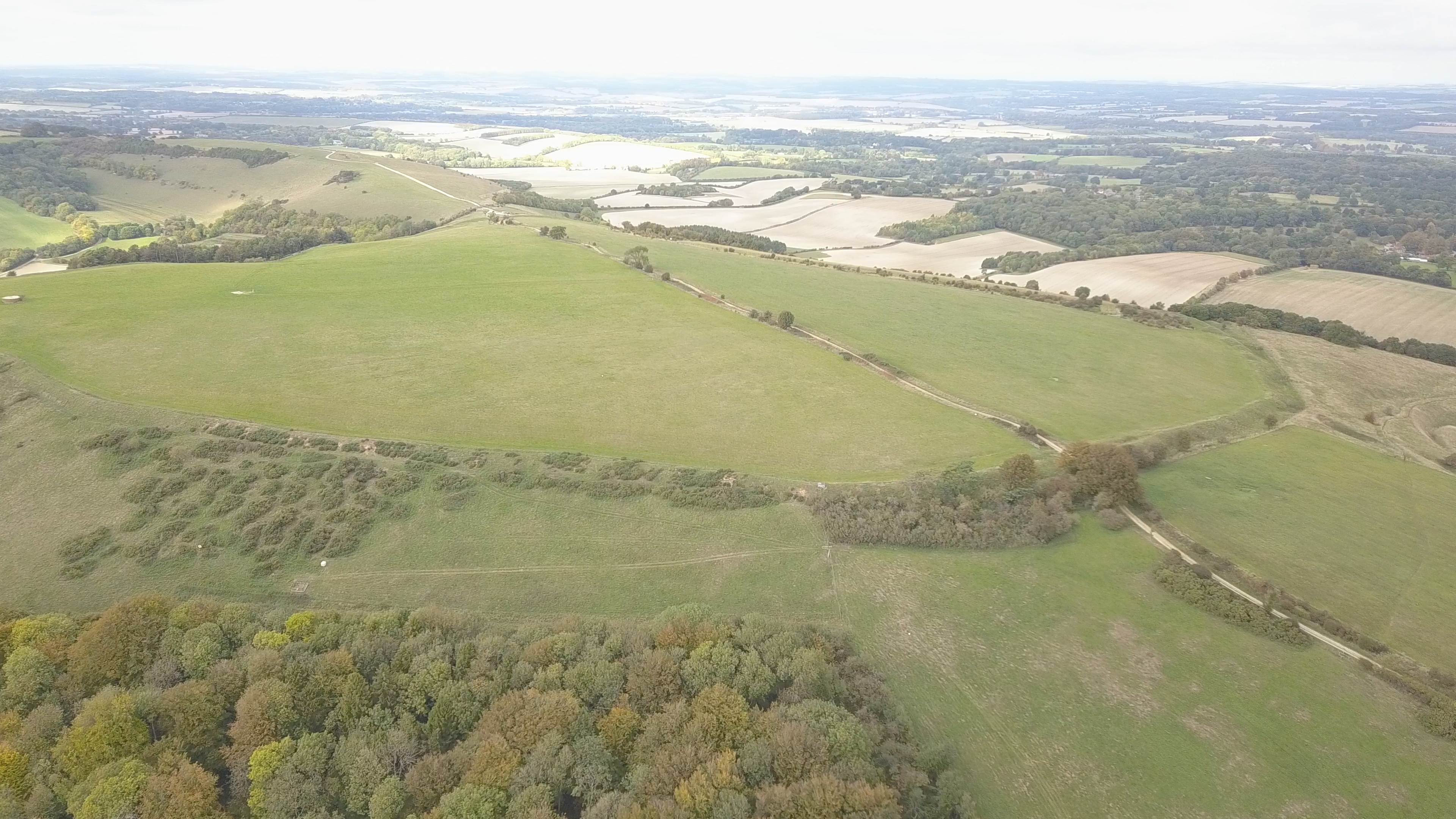 Walbury Camp from the air